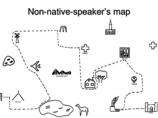 Non-native-speaker's map