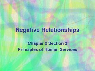 Negative Relationships
