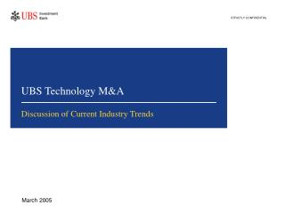UBS Technology M&A