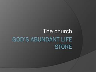God's abundant life store