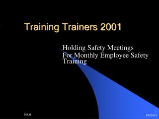 Training Trainers 2001