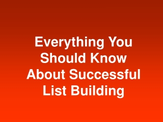 Best List Building Resources