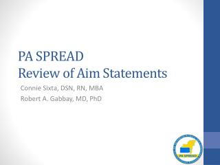 PA SPREAD  Review of Aim Statements