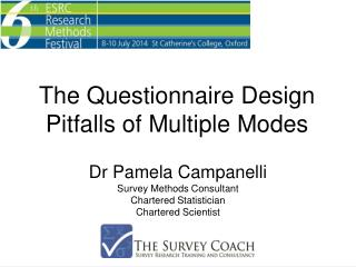 Dr Pamela  Campanelli Survey Methods Consultant Chartered Statistician Chartered Scientist