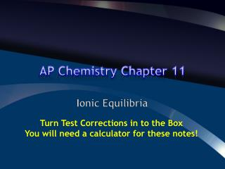 AP Chemistry Chapter 11