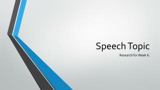 Speech Topic