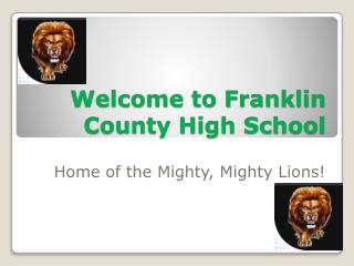 Welcome to Franklin County High School