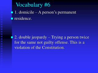 Vocabulary #6