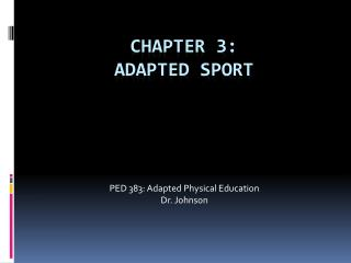 Chapter 3: Adapted Sport