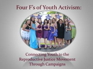 Four F's of Youth Activism: