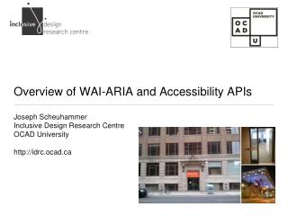 Overview of WAI-ARIA and Accessibility APIs