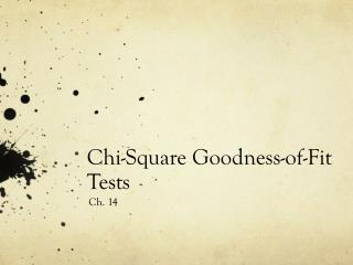 Chi-Square Goodness-of-Fit Tests