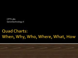 Quad Charts: When, Why, Who, Where, What, How