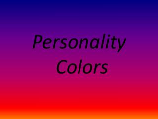 Personality Colors