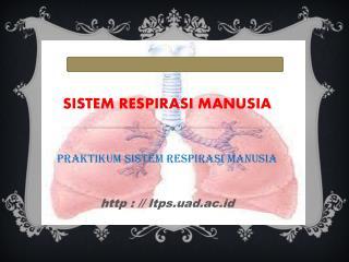 SISTEM RESPIRASI MANUSIA  Praktikum Sistem Respirasi Manusia http : // ltps.uad.ac.id