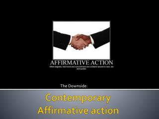 Contemporary Affirmative  action