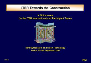 ITER Towards the Construction