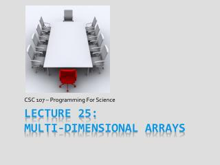 Lecture  25:  Multi-Dimensional Arrays