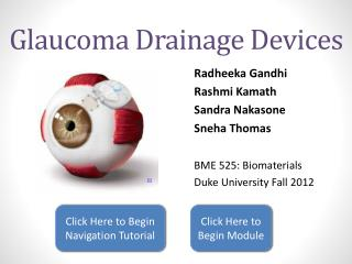 Glaucoma Drainage Devices
