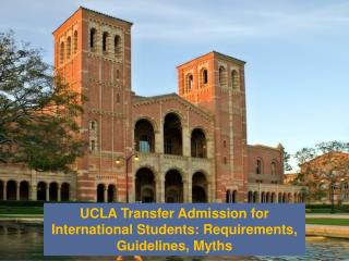 UCLA Transfer Admission for International Students:  Requirements, Guidelines, Myths