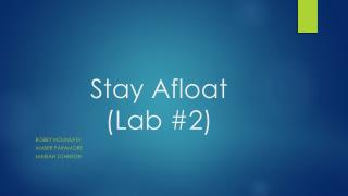 Stay Afloat  (Lab #2)