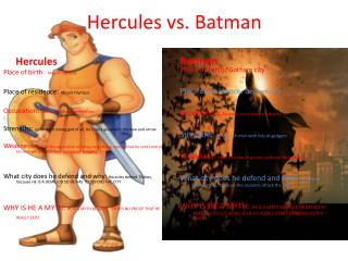 Hercules vs. Batman