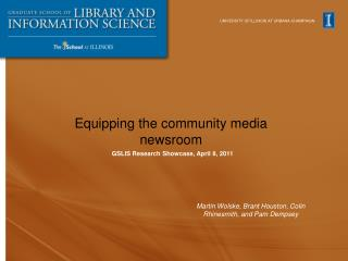 Equipping the community media newsroom