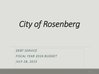 PRESENTATION OF PROPOSED FY 2008-2009 CITY BUDGET