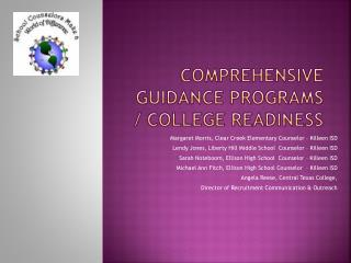 Comprehensive Guidance Programs / College Readiness