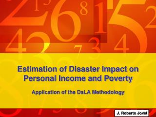 Estimation of Disaster Impact on Personal Income and Poverty