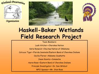 Haskell-Baker Wetlands  Field Research Project
