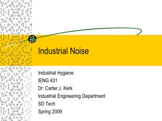 Industrial Noise