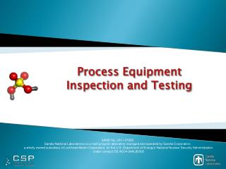 Process Equipment  Inspection and Testing