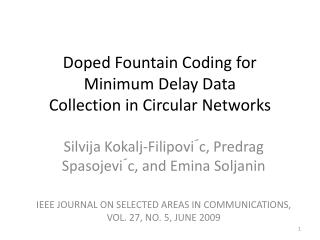 Doped Fountain Coding for Minimum Delay Data Collection in Circular Networks