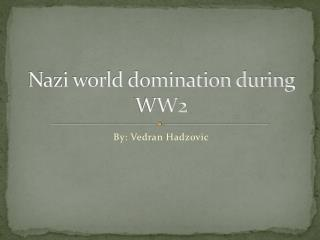 Nazi world domination during WW2