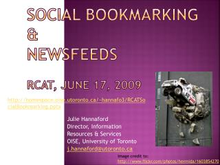 Social Bookmarking  &  Newsfeeds RCAT, June 17, 2009
