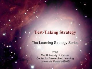 Test-Taking Strategy