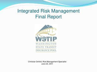 Integrated Risk Management Final Report