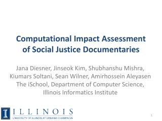 Computational Impact Assessment of Social Justice Documentaries