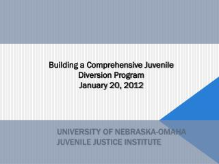 University of  nebraska-omaha juvenile justice institute