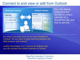 Connect to and view or edit from Outlook