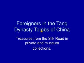 Foreigners in the Tang Dynasty Tombs of China