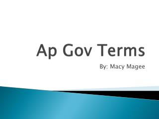 Ap  Gov Terms