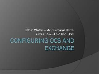 Configuring OCS and Exchange