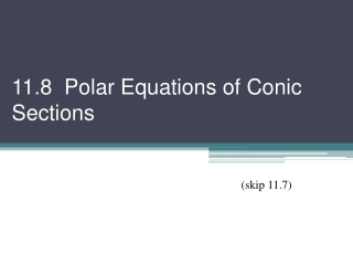 Equations of Conic Sections