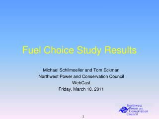 Fuel Choice Study Results