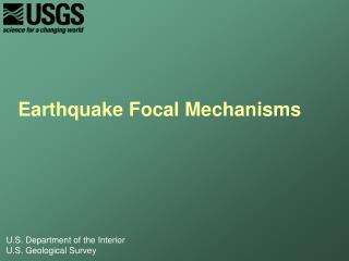 Earthquake Focal Mechanisms