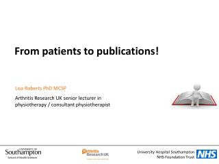 From patients to publications!