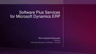 Software Plus Services for Microsoft Dynamics ERP
