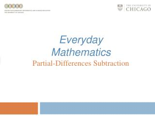 Everyday Mathematics Partial-Differences Subtraction